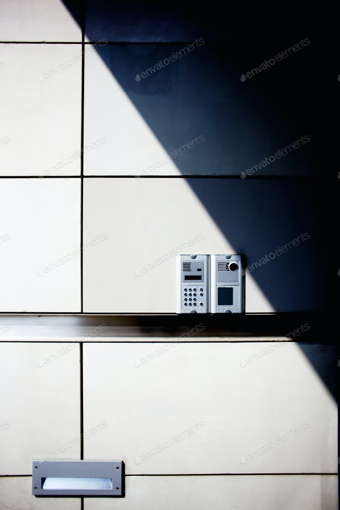 Alarm system on wall