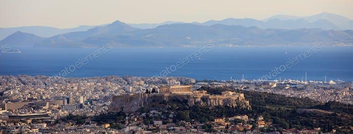 Athens, Greece - Panoramic view of Acropolis