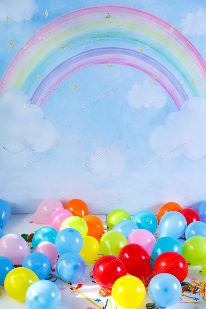 Colorful balloons for birthday party