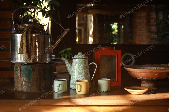 Antique house kitchen