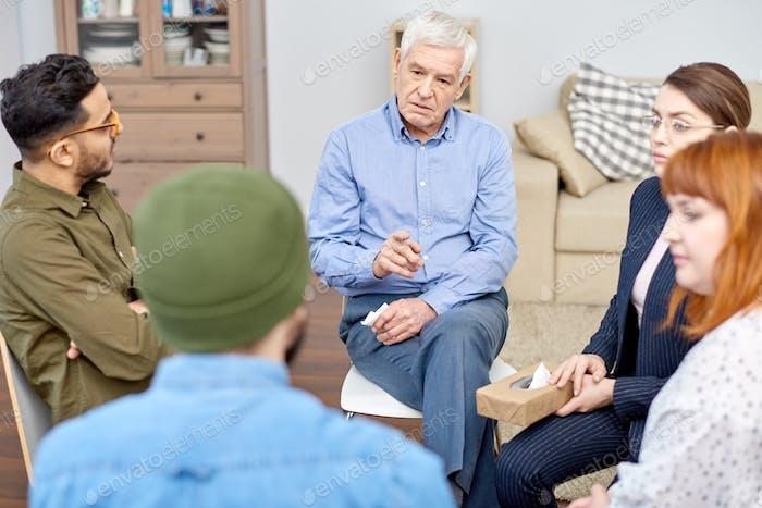 Male Patient Discussing Problem