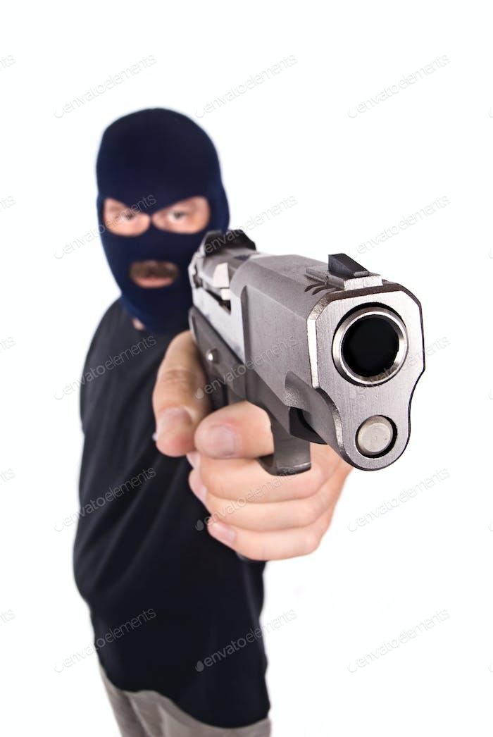 Bewaffneter Räuber
