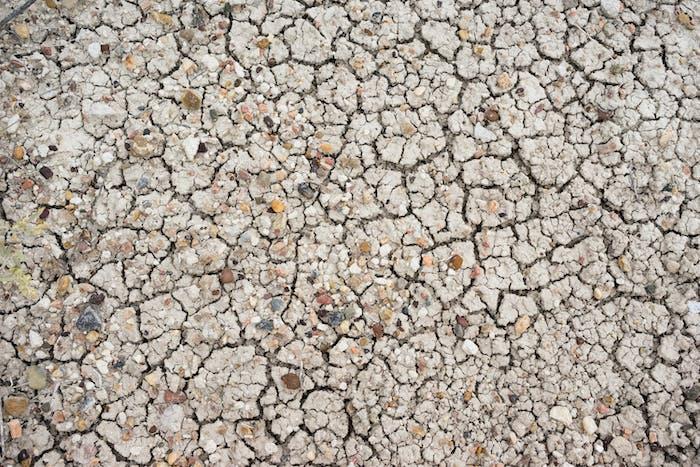 Sun Baked Ground Gravel Rocks Badlands National Park Rock
