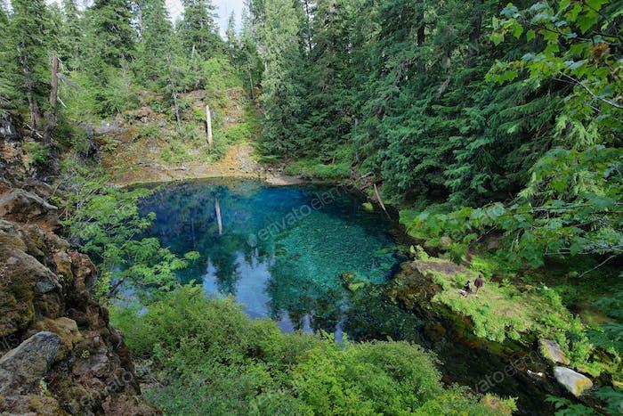 Clear Blue Tamolitch Pool