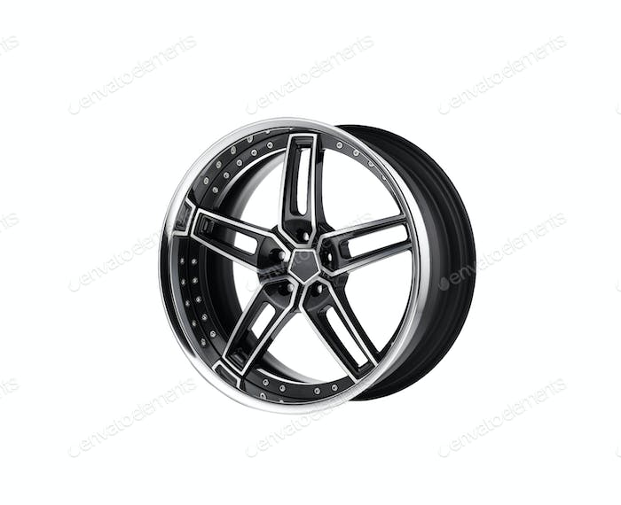 alloy rim on white background