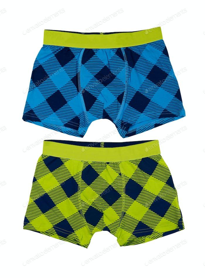 Two Men's underwear boxer shorts