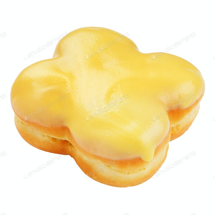 Yellow donut isolated
