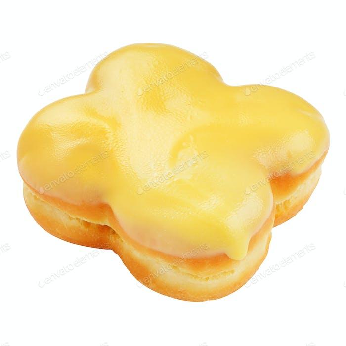 Gelber Donut isoliert
