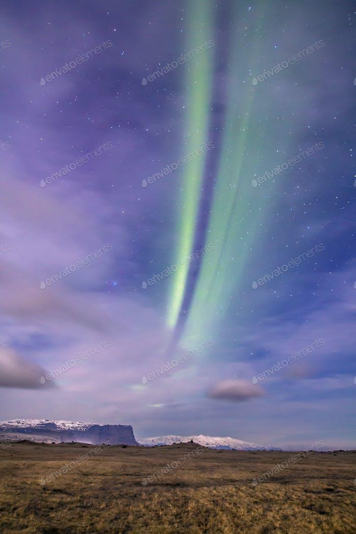 Aurora Borealis oder das Nordlicht, Island, April 2016