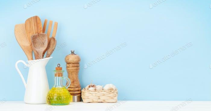 Kitchen utensils and spices