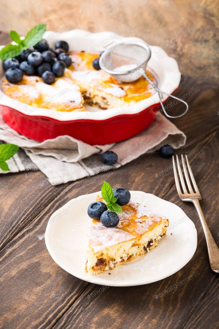 Delicious homemade cheesecake