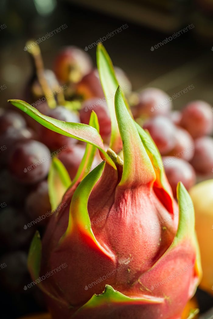 dragon fruit at the market