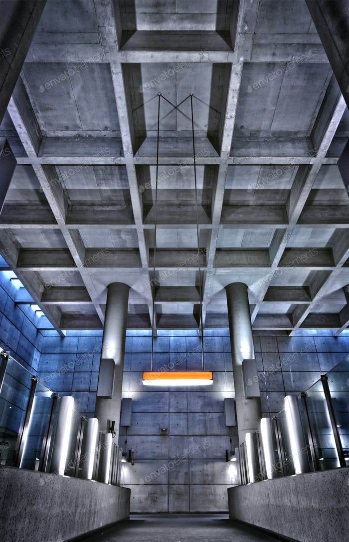 HRD metro station ceiling structure