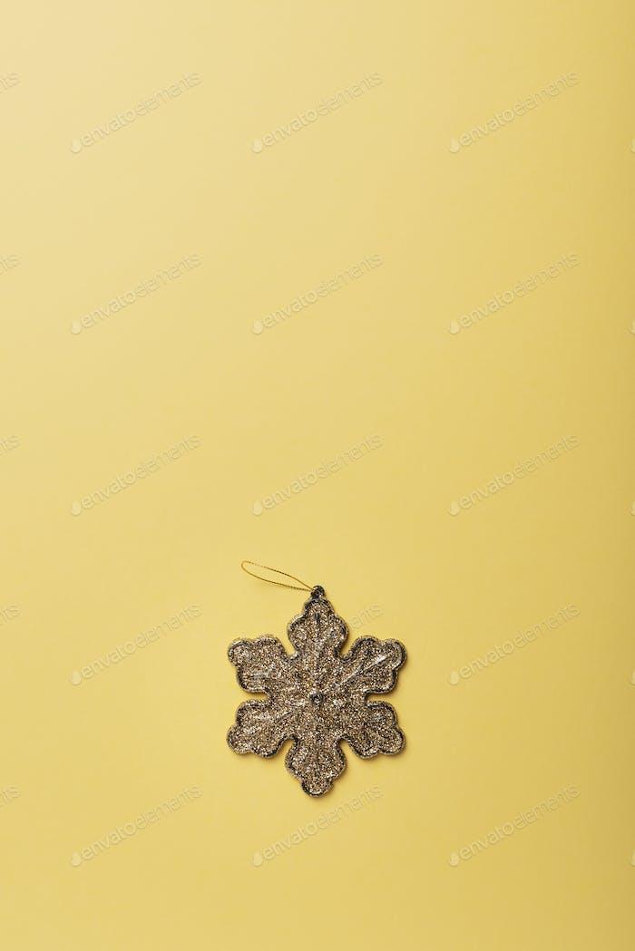 Weihnachtskarte mit goldenem Stern
