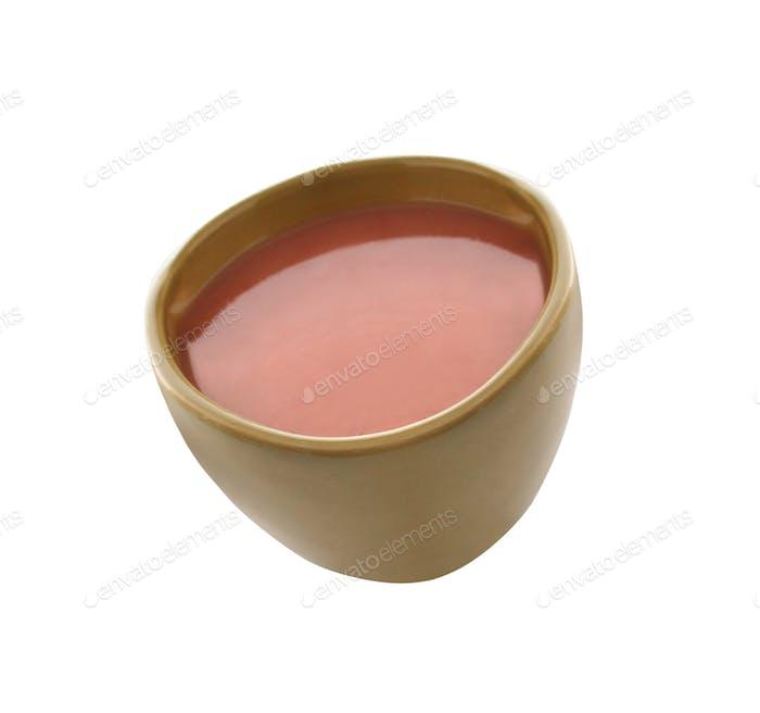 Suppenschüssel isoliert auf weiß