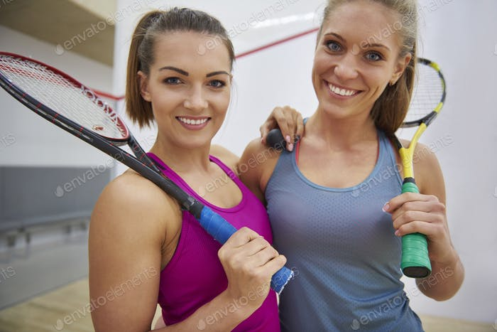 She is the best companion of playing squash
