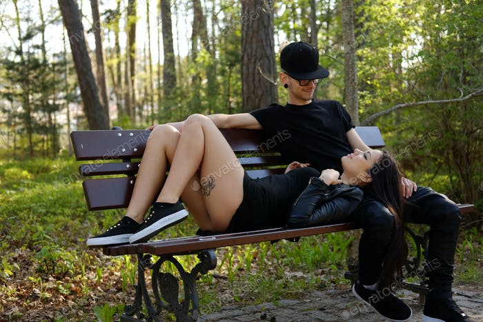 Loving sensual couple