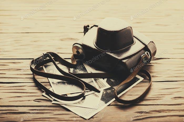 Old\_fashioned braune Kamera
