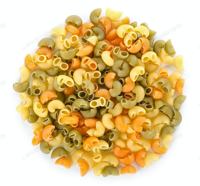 Mix of pasta isolated