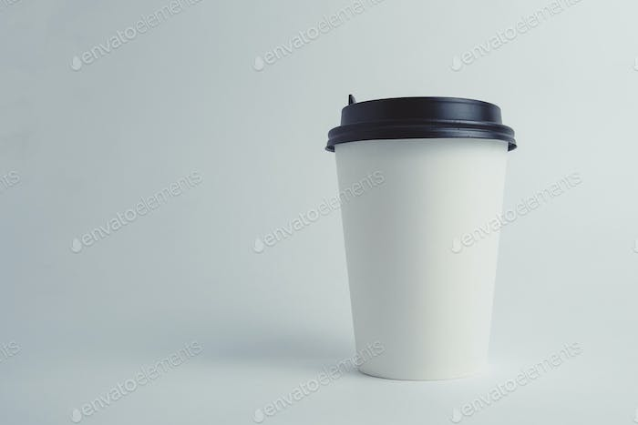 Paper cup with cap