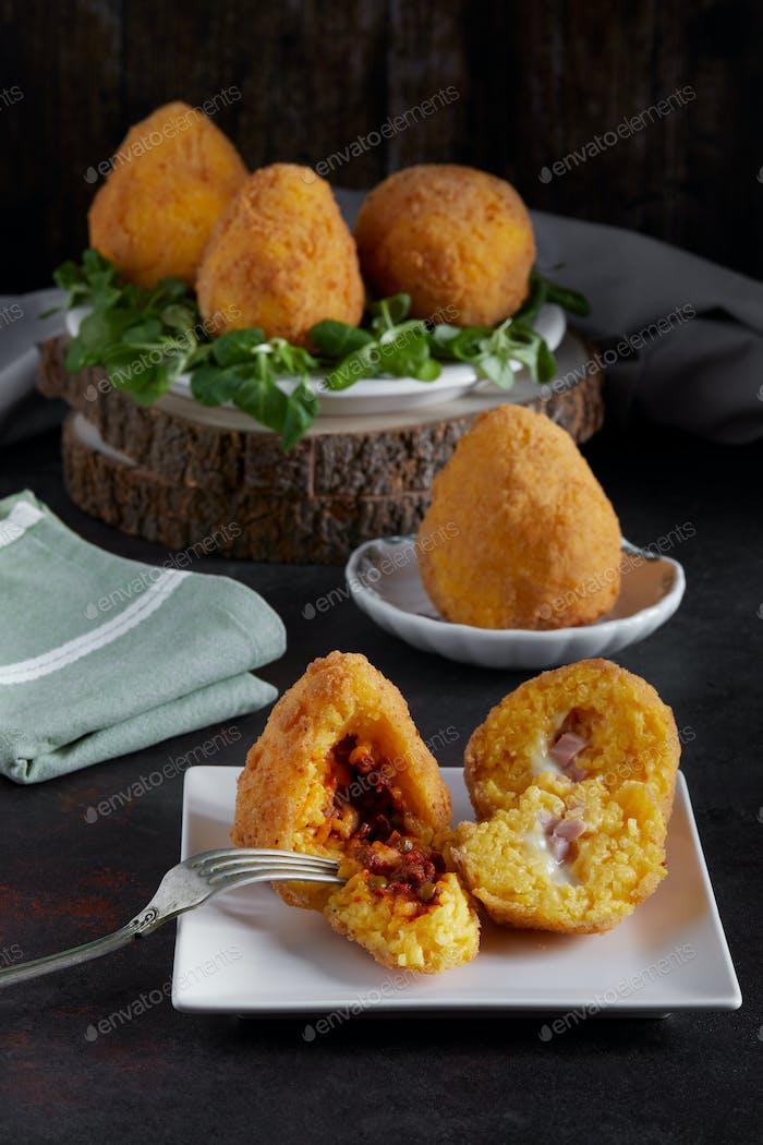 Arancini Italian Comida