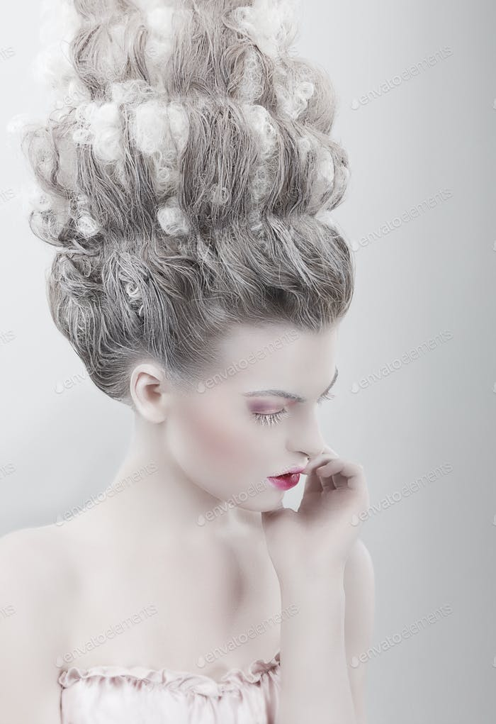 Imagination. Woman with Updo