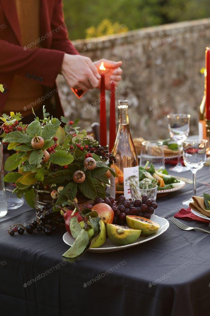 Festive Autumn Table Setting