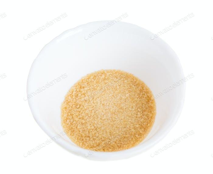 Closeup of brown sugar.