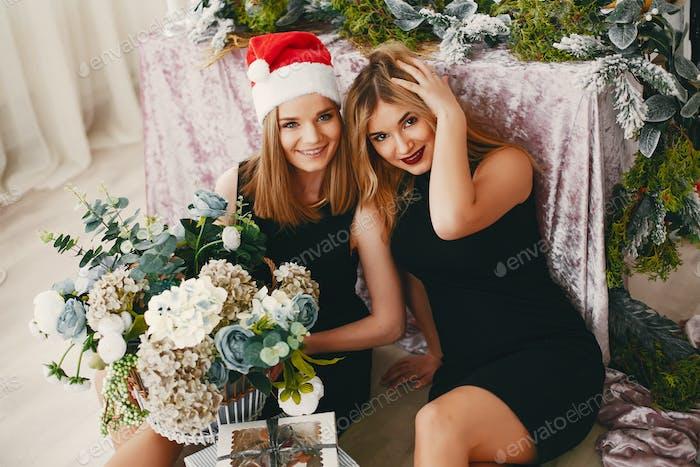 Schönheit Weihnachten Mädchen