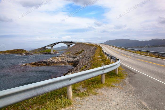 Bridge on Atlantic road Norway