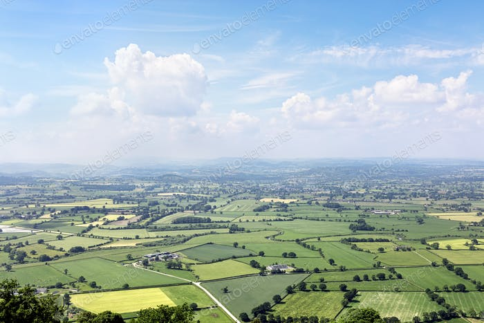 England countryside landscape panorama