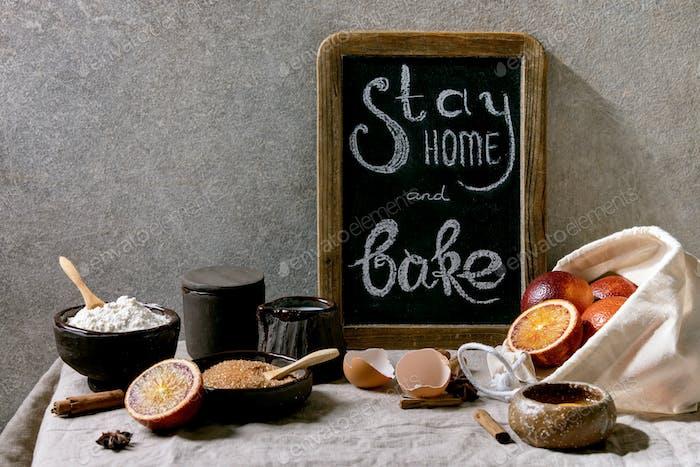 Bleib zu Hause und backen
