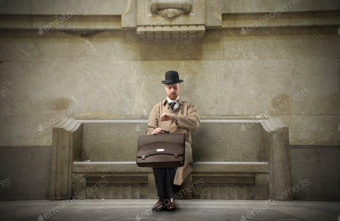 Waiting gentleman