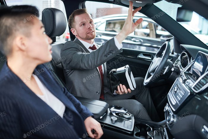 Showing Car to Potential Customer