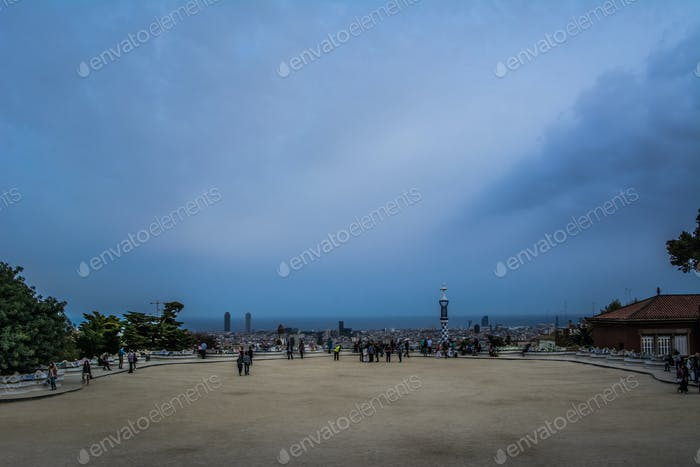 Park Guell in Evening, Barcelona