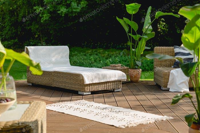 Rest space in the garden
