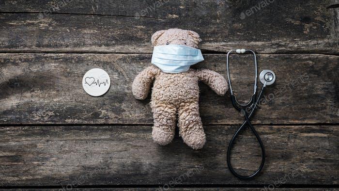 Conceptual image of pediatric cardiac health