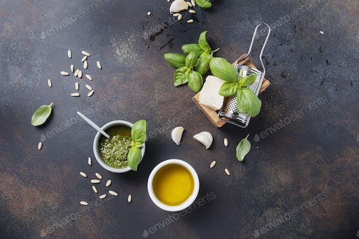 Gewürze zum Kochen italienischer Pasta