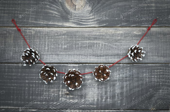 Cute christmas decoration on the old wood