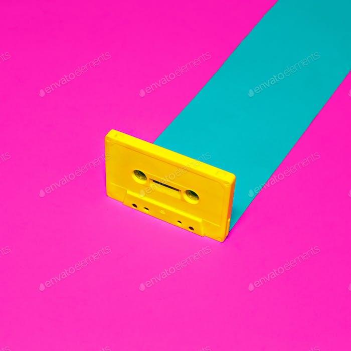 Vintage retro design minimal. Audio cassette