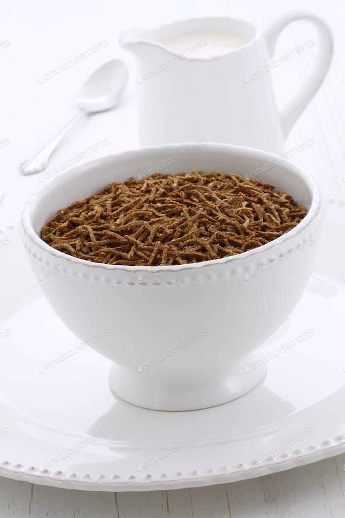 Delicious bran cereal breakfast