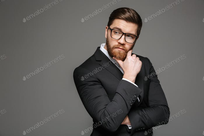 Portrait of a pensive young businessman