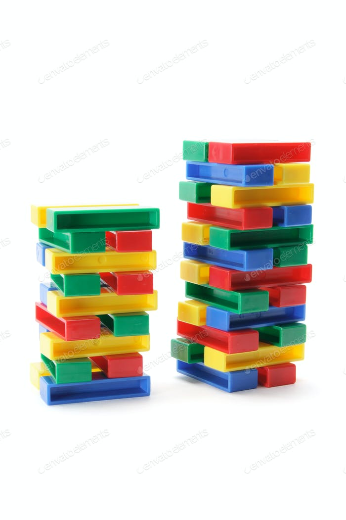 Stacks of Building Blocks