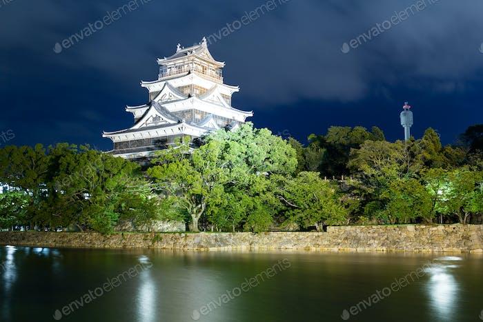 Hiroshima castle in Japanese city