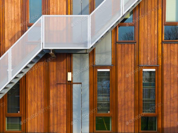 modern wooden facade