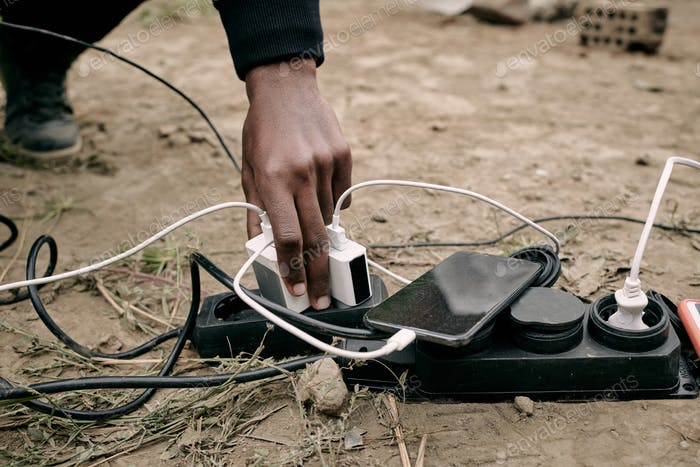 Charging Phone Outdoors