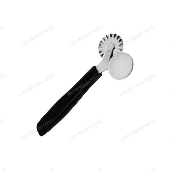Pizza-Messer isoliert auf weißem Hintergrund