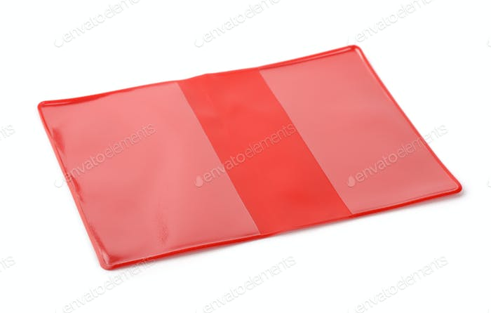 Red PVC book protective cover