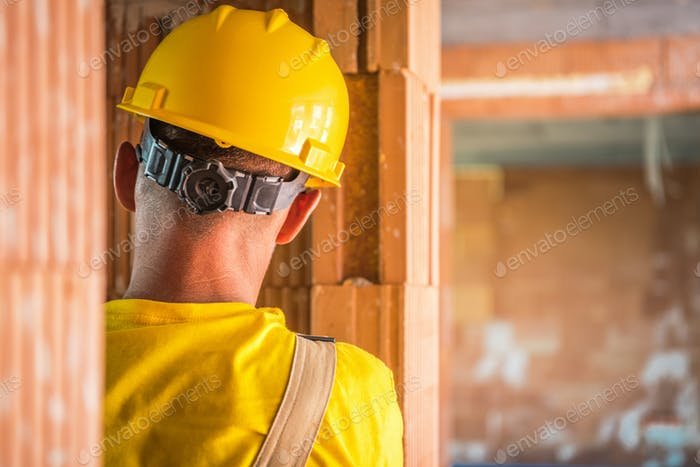 Construction Worker in Yellow Hard Hat