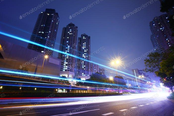Highway road at night